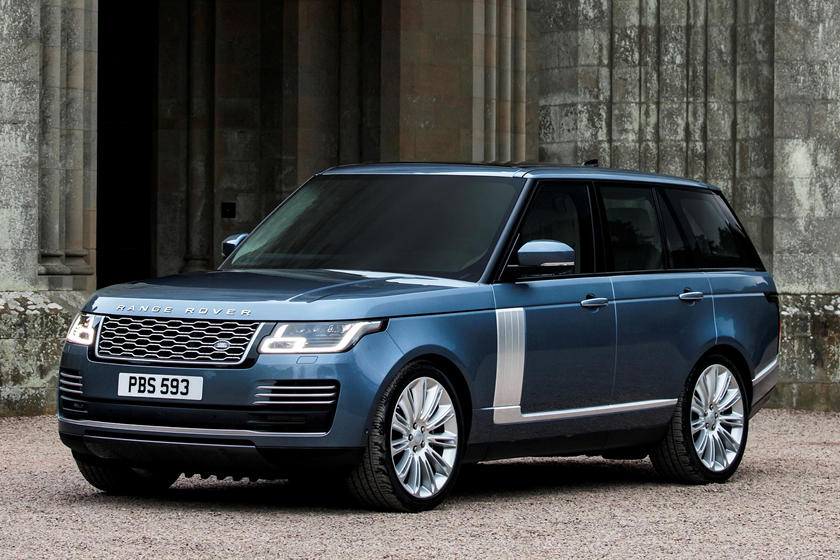 2021 Land Rover Range Rover Autobiography SUV front 3 quarter view