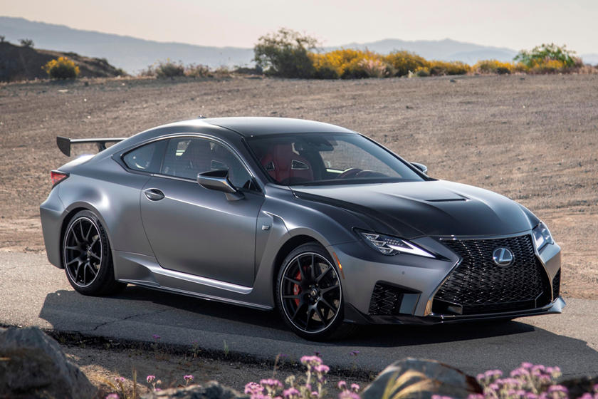 2021 Lexus RC F Track Edition Coupe front three quarter view