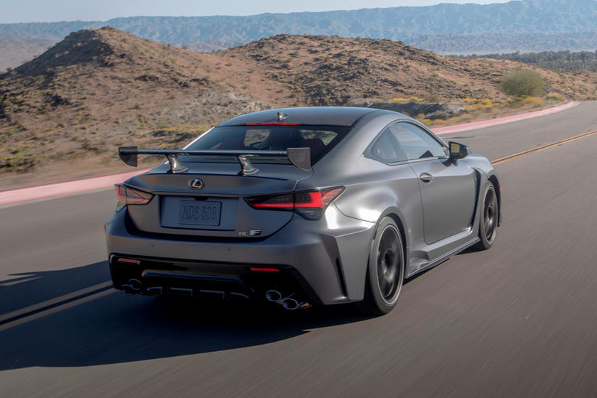 2021 Lexus RC F Track Edition Coupe rear three quarter view