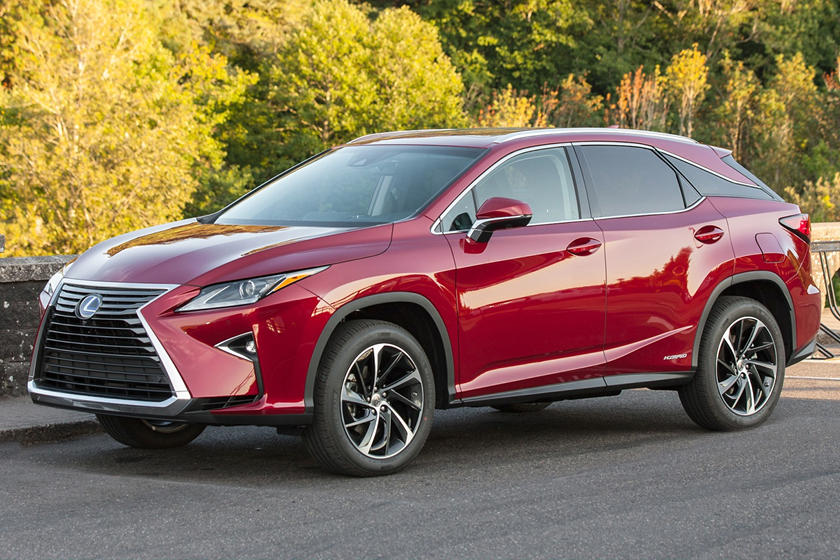 2018 Lexus RX 450h hybrid SUV front angle view