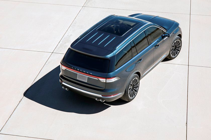 2020 Lincoln Aviator SUV Top View