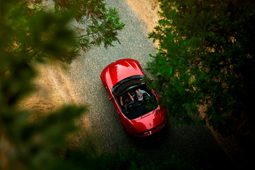 2020 Mazda MX-5 Miata Convertible Top View
