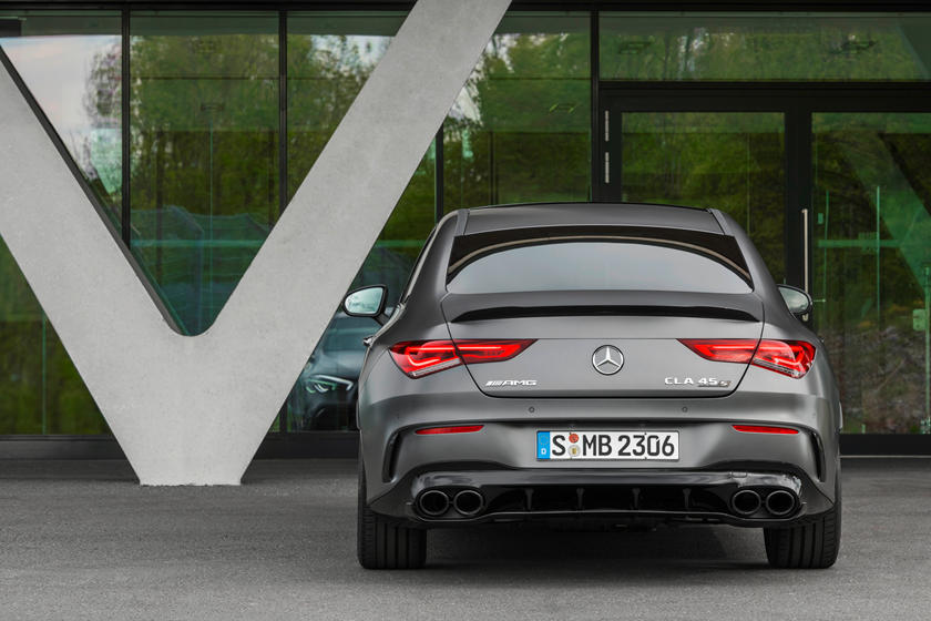 2021 Mercedes-Benz AMG CLA 45 Coupe Rear View