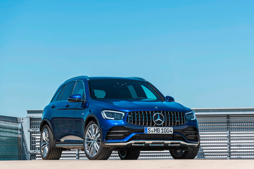 2021 Mercedes-benz amg glc 43 suv front view