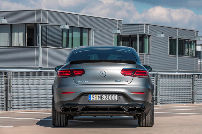 2021 Mercedes-Benz AMG GLC 63 Coupe SUV rear view
