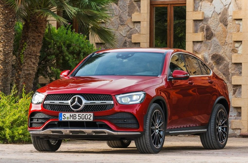 2020 Mercedes Benz GLC Class Coupe Angular Front View
