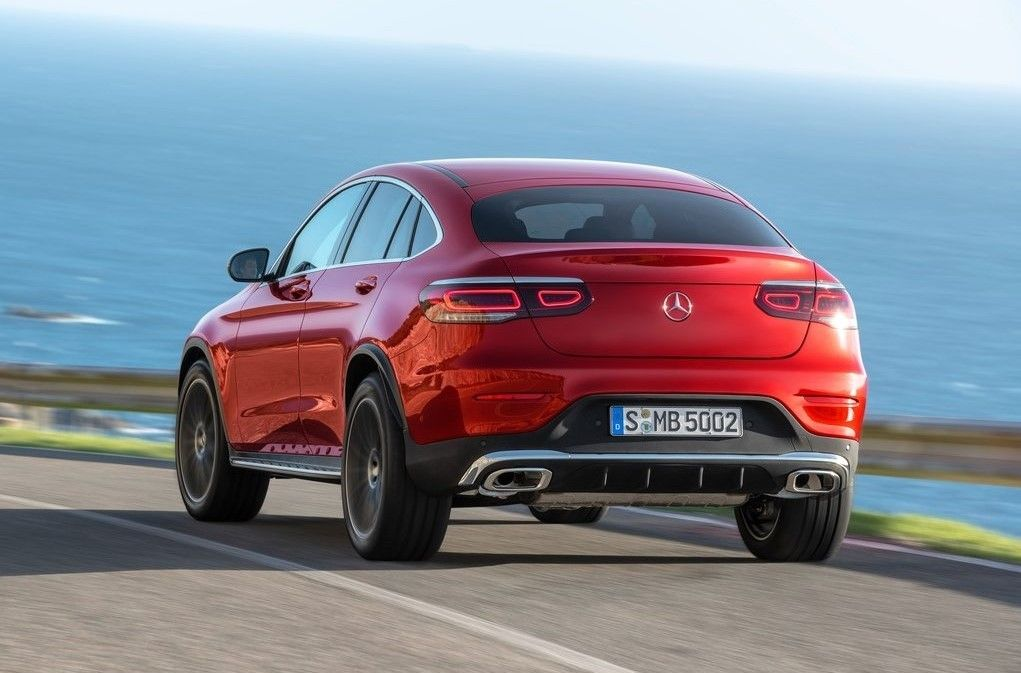 2020 Mercedes Benz GLC Class Coupe Angular Rear View