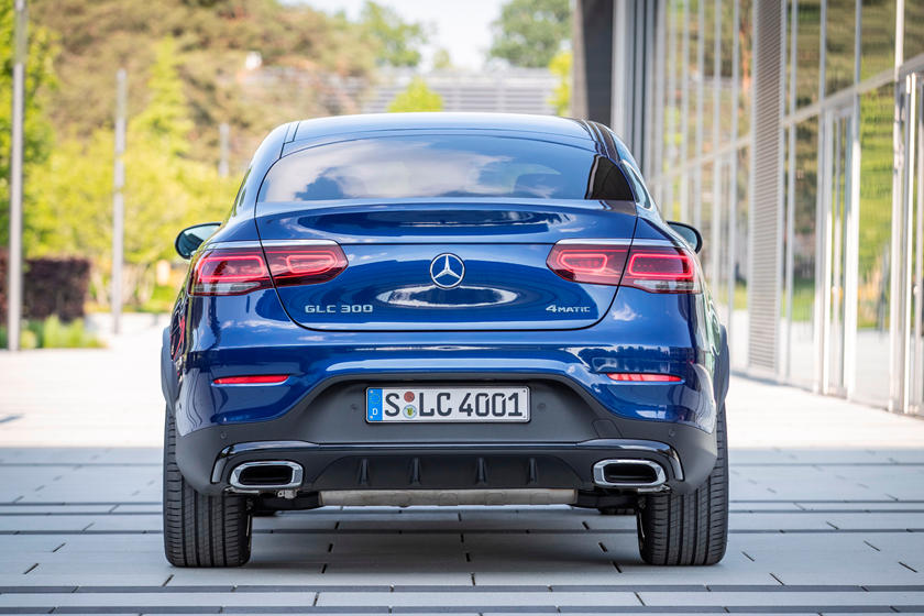 2021 Mercedes-benz glc 300 coupe suv rear view