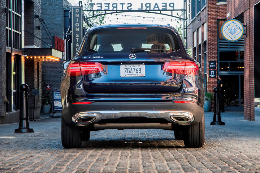 2021 Mercedes-Benz GLC 350e plug-in-hybrid SUV rear view