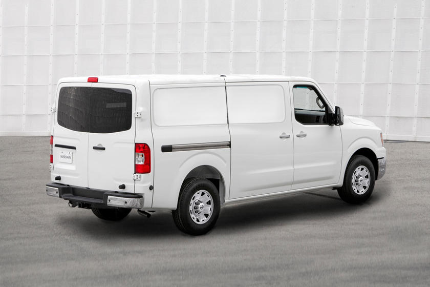 2021 Nissan NV2500 rear angle view
