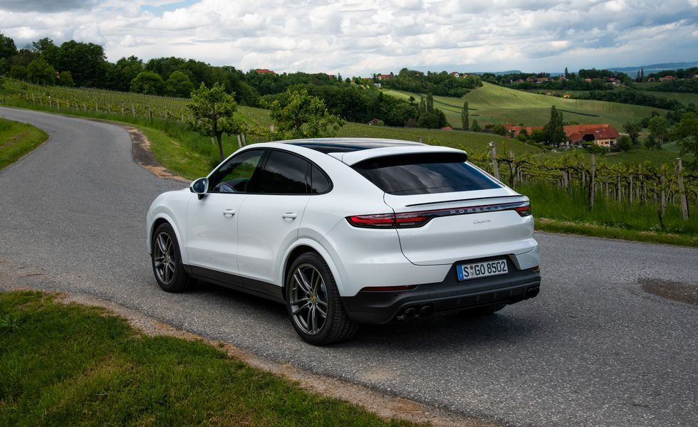 2021 Porsche cayenne coupe turbo suv rear view