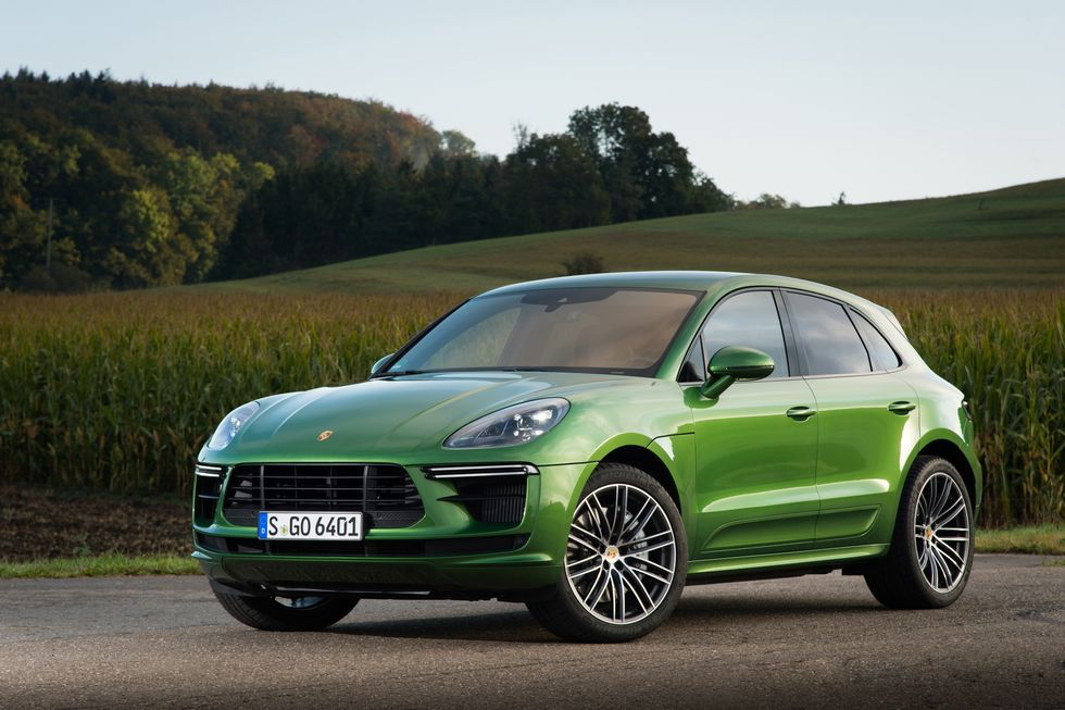 2020 Porsche Macan Turbo SUV Front View