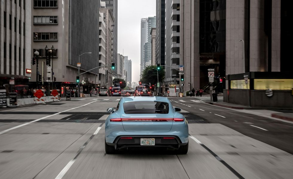 2020 Porsche Taycan 4S Sedan Rear View