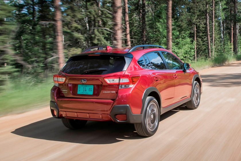 2020 Subaru Crosstrek rear three quarter view