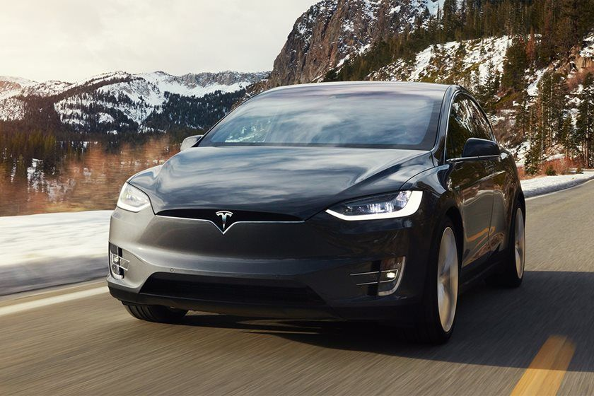 2019 Tesla model x electric suv front view