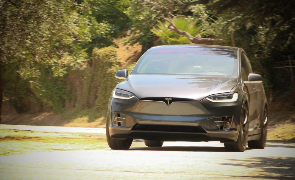 2020 Tesla Model X electric Crossover Front View