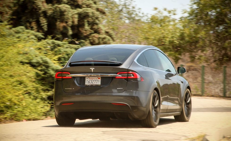 2020 Tesla Model X electric Crossover Rear View