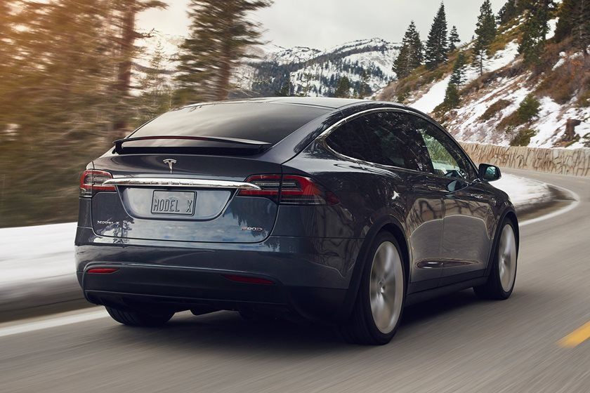 2021 Tesla Model X Rear Third Quarter
