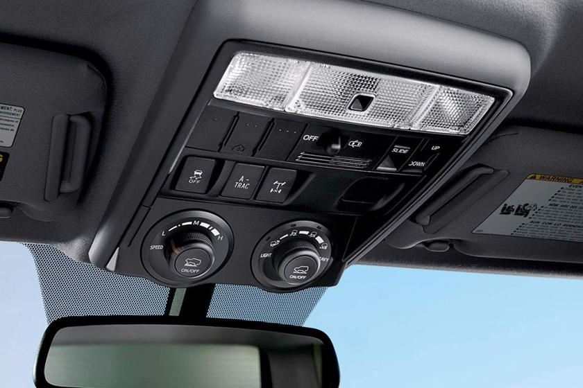 2020 Toyota 4Runne SUV Sunroof Controls