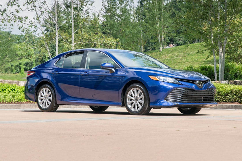 2020 Toyota Camry LE Side Three-Quarter View