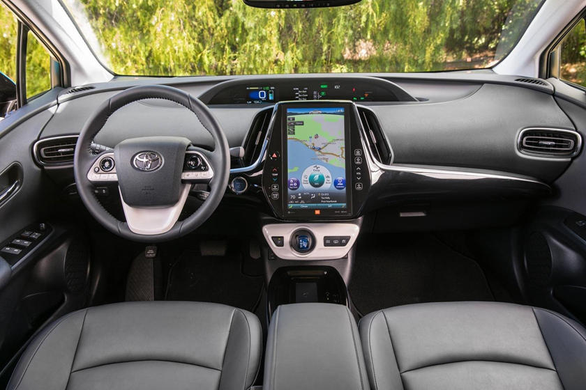 2020 Toyota Prius hybrid Hatchback Front Seats and dashboard