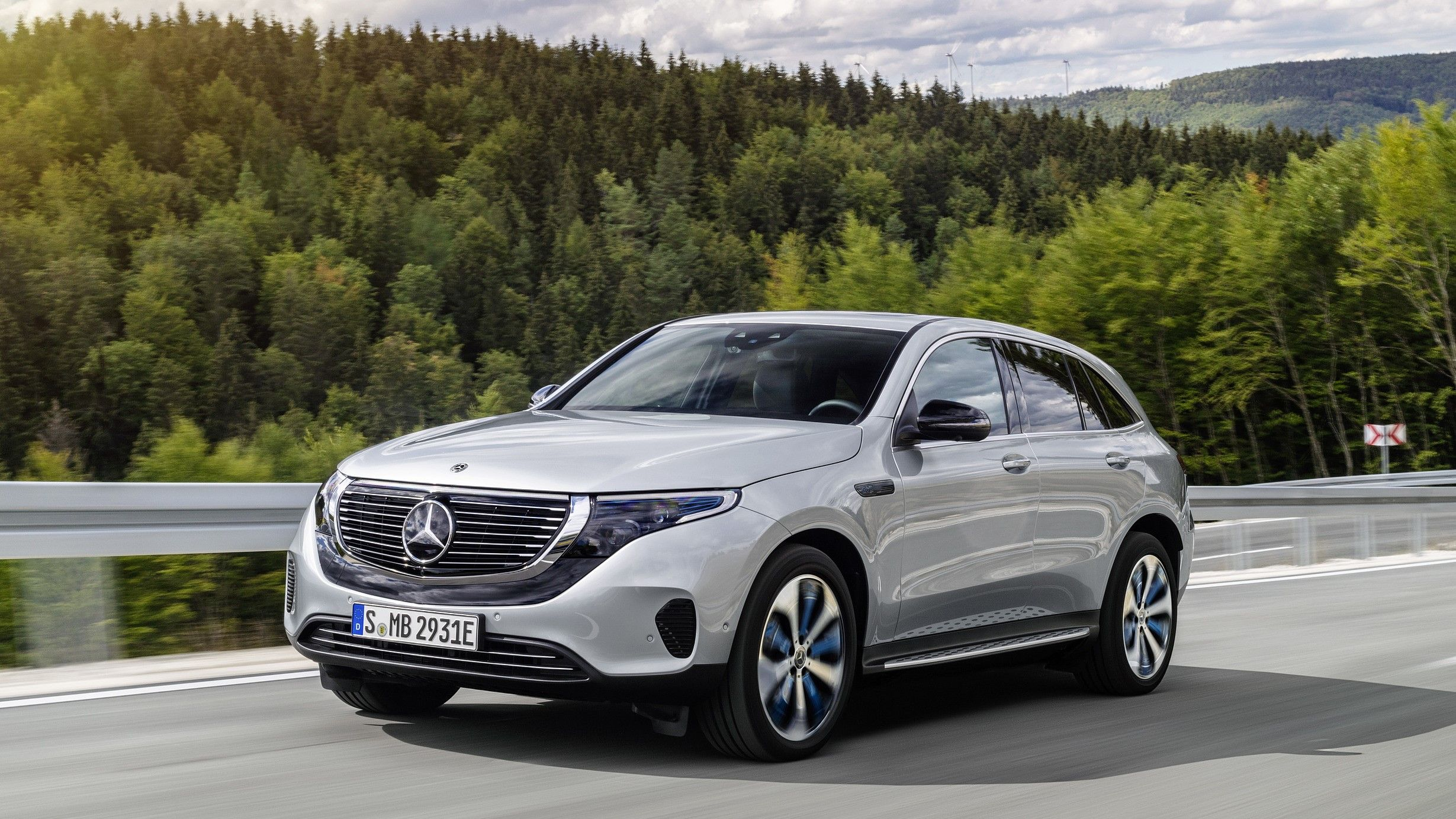 2021 mercedes Benz EQC fully electric SUV Review
