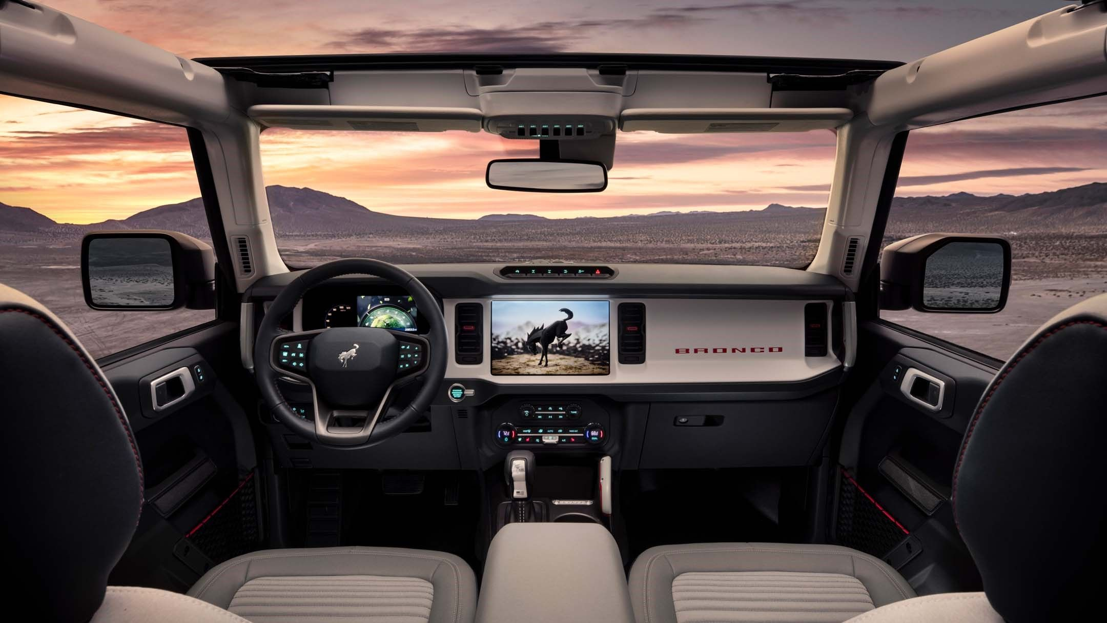 2021 Ford Bronco SUV cockpit area wallpaper