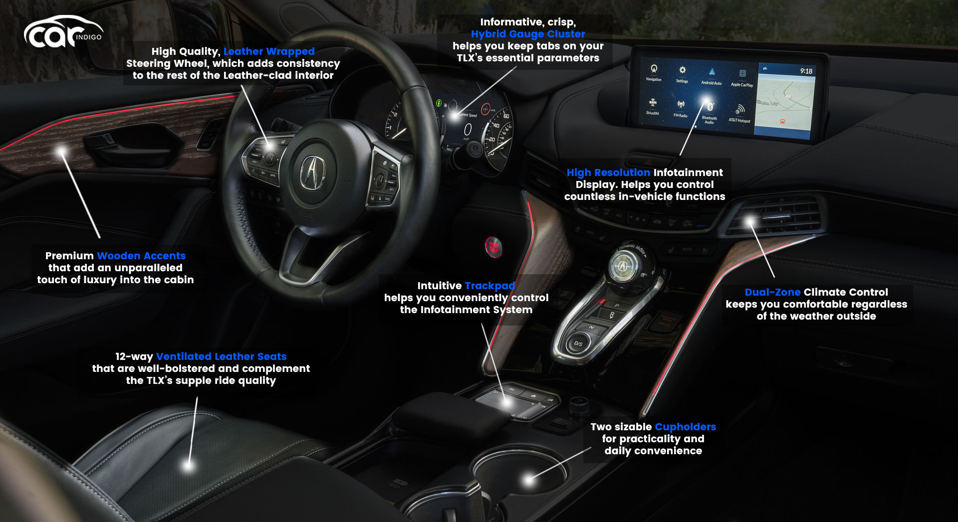 2021 Acura Tlx Interior Review Seating Infotainment Dashboard And Features Carindigo Com