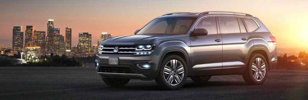 2020 vw atlas front left angled view