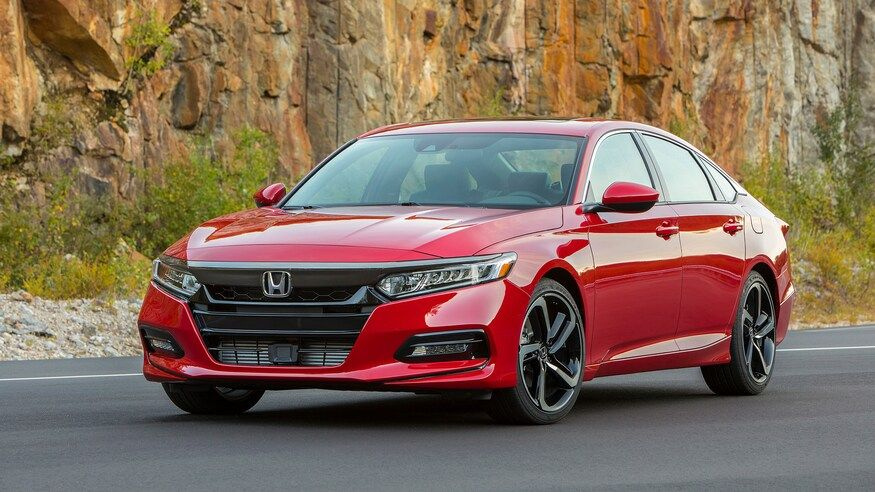 2020 honda accord in radiant red metallic color wallpaper