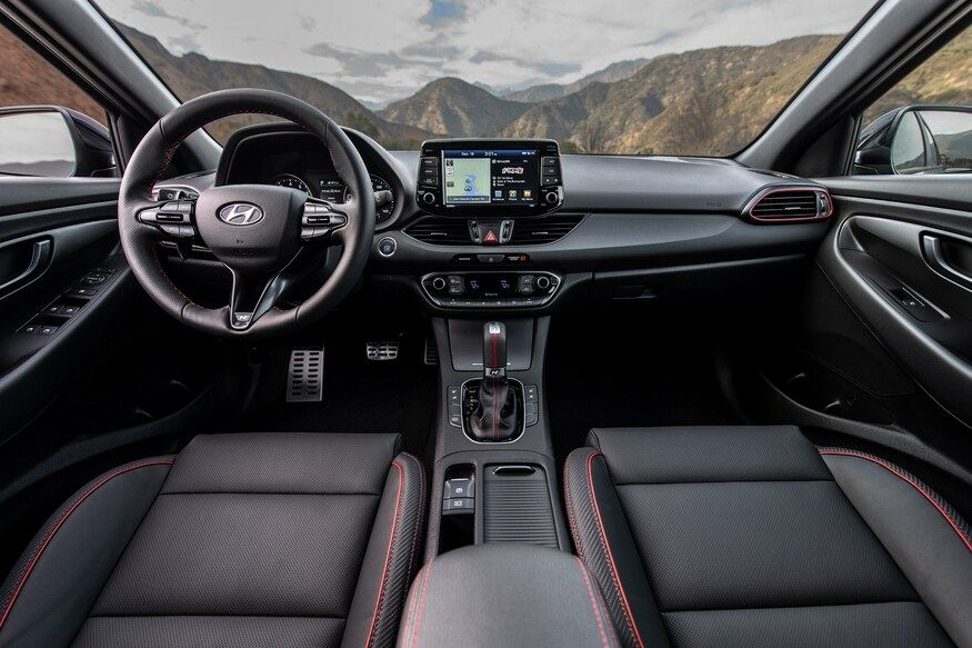 2020 hyundai elantra gt n line hatchback interior review seating infotainment dashboard and features carindigo com 2020 hyundai elantra gt n line