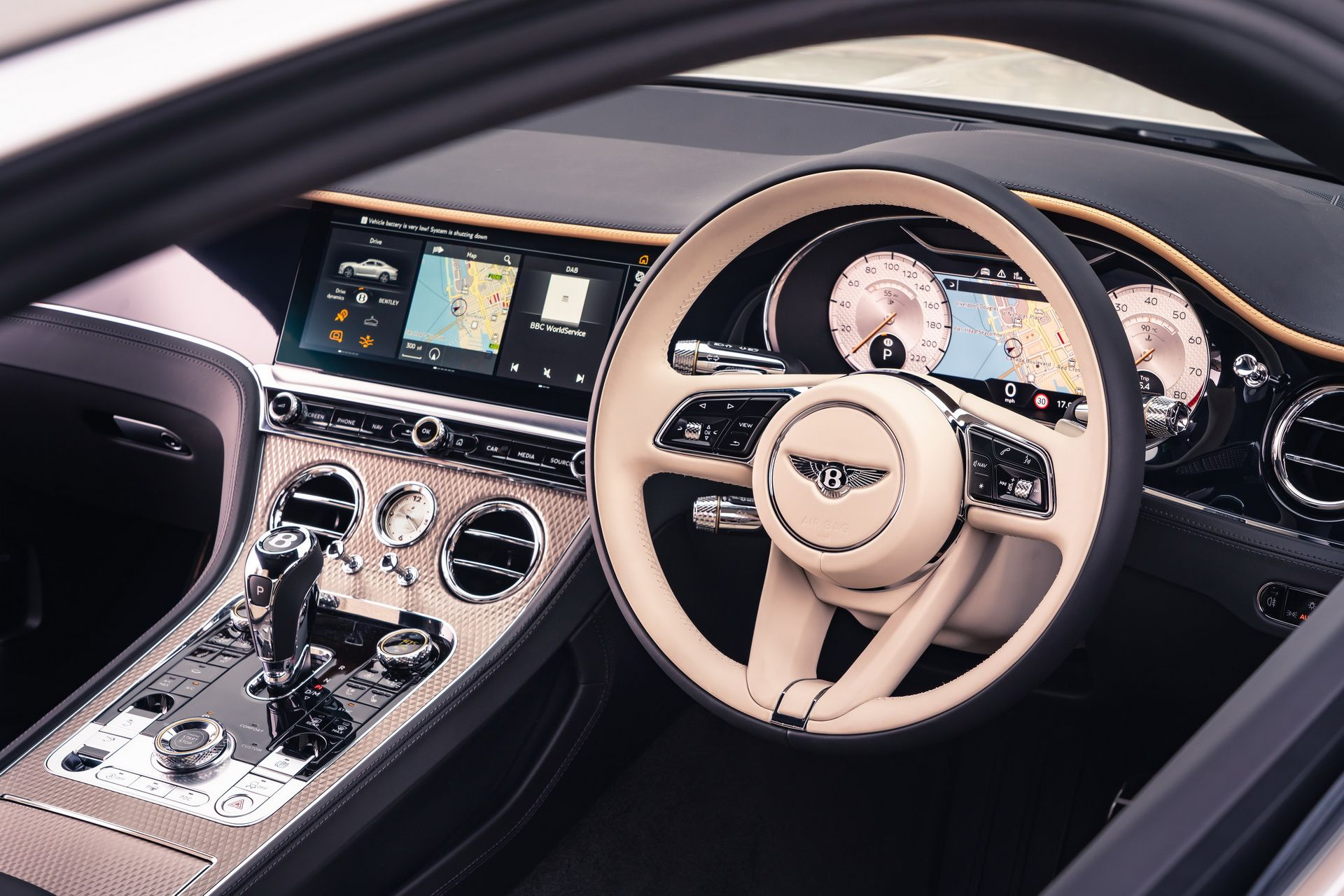 2021 Bentley Continental GT Mulliner Coupe Steering