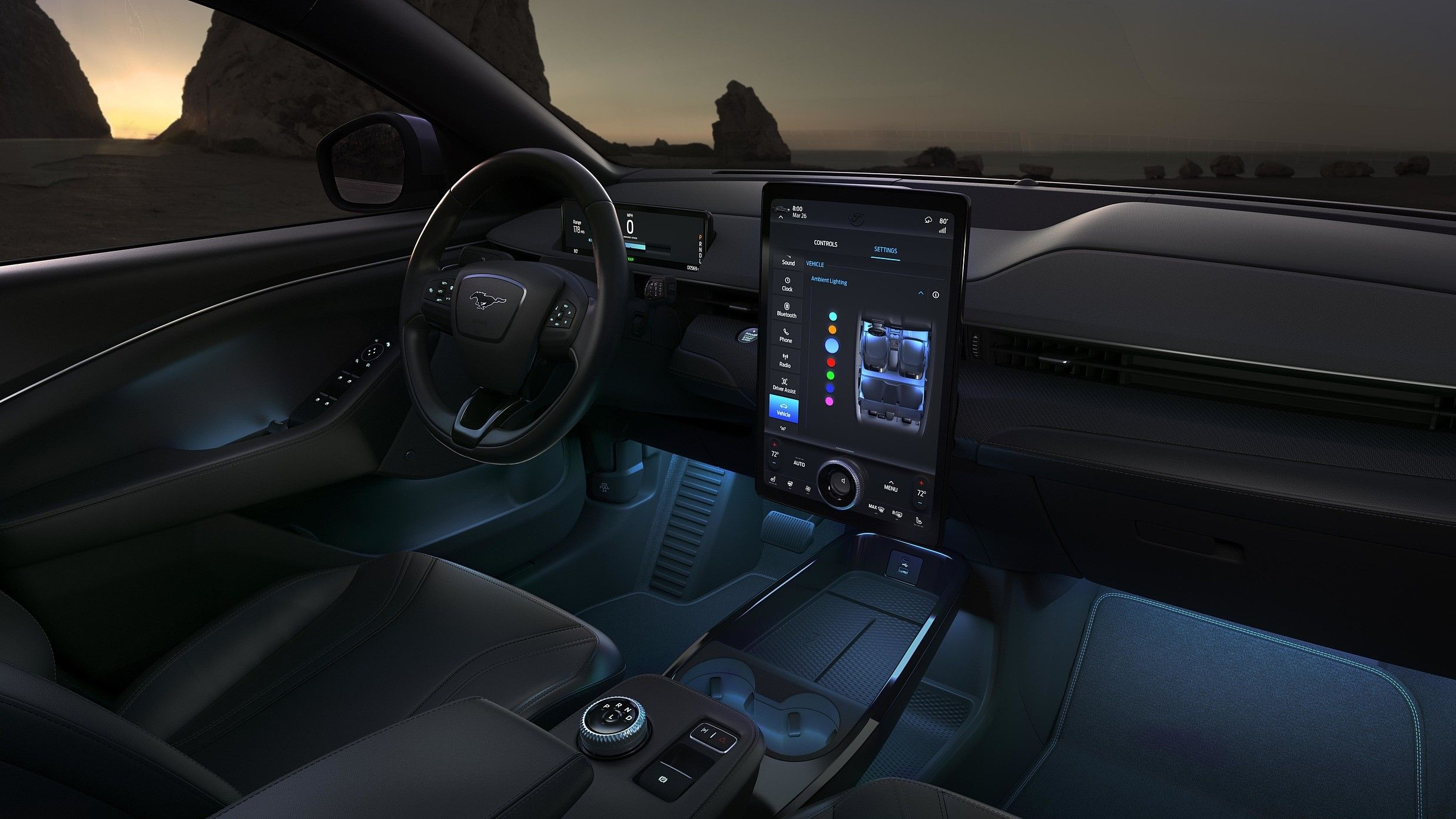 2021 ford mustang mach e interior dashboard view 3