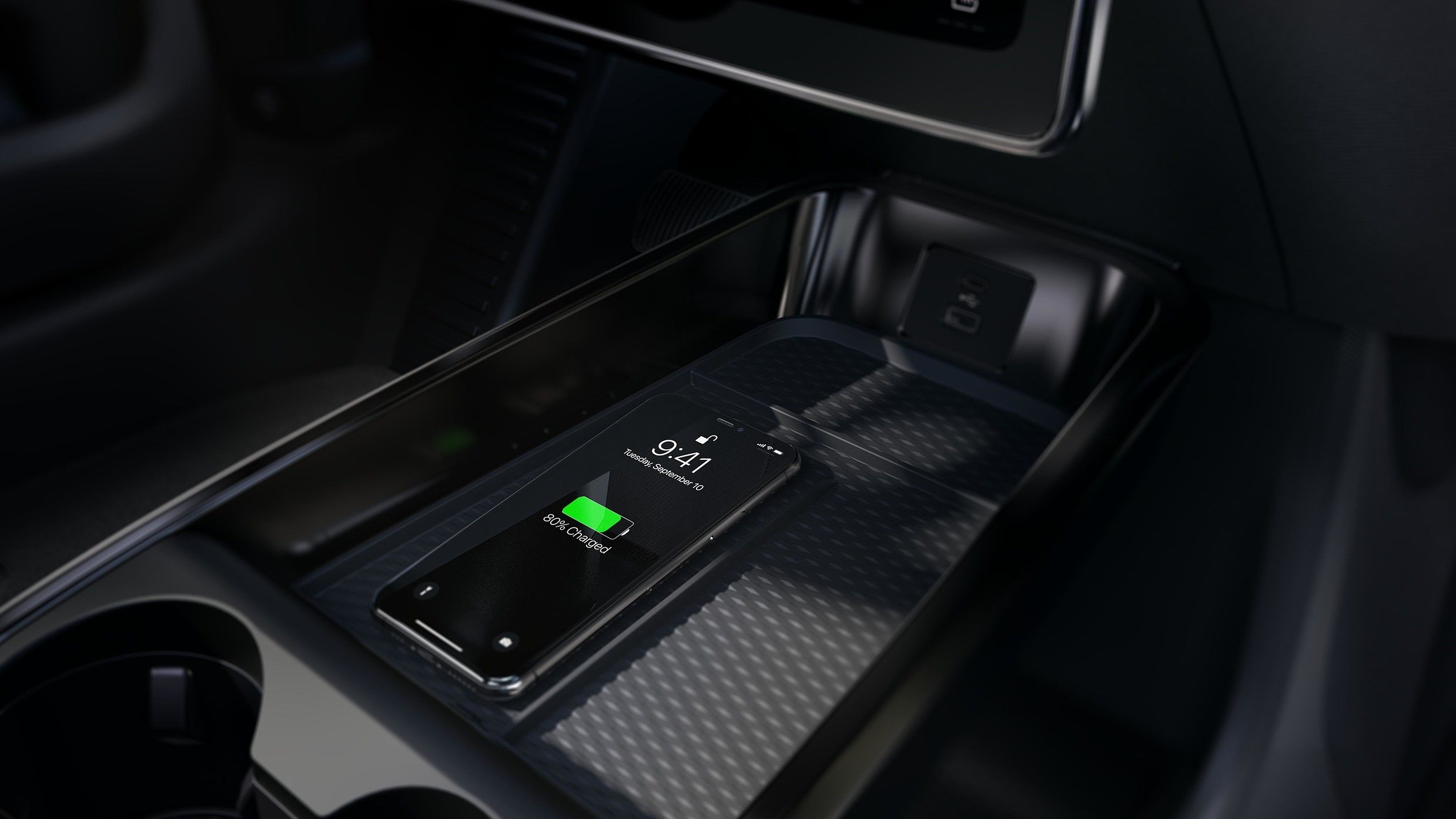 2021 ford mustang mach e interior wireless charging