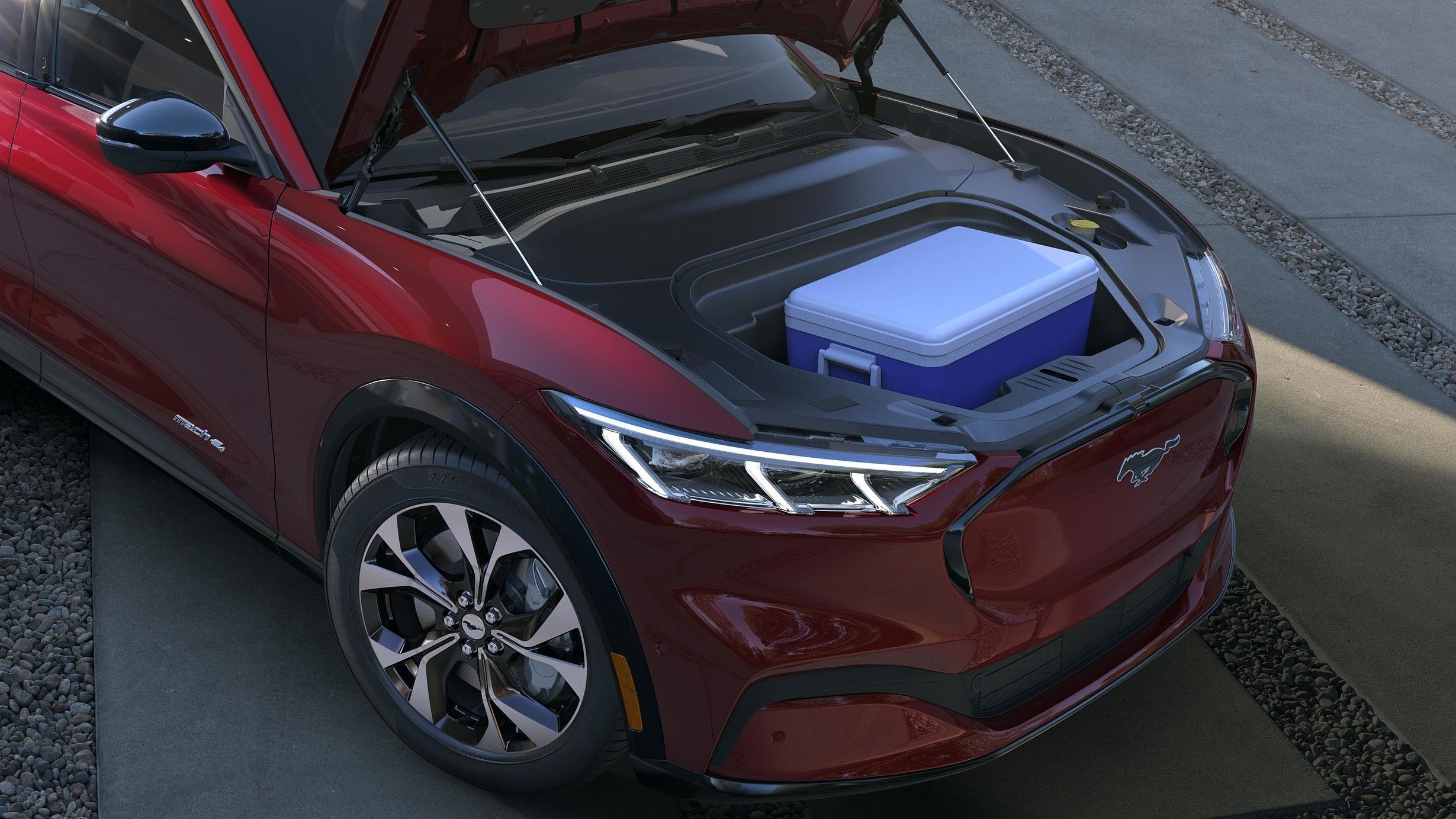 2021 ford mustang mach e exterior front cargo compartment