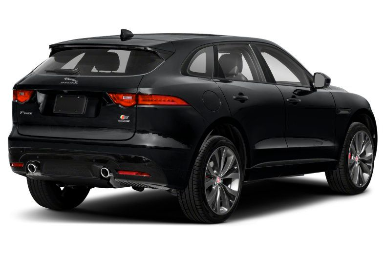 2021 Jaguar F-Pace S rear three quarter view