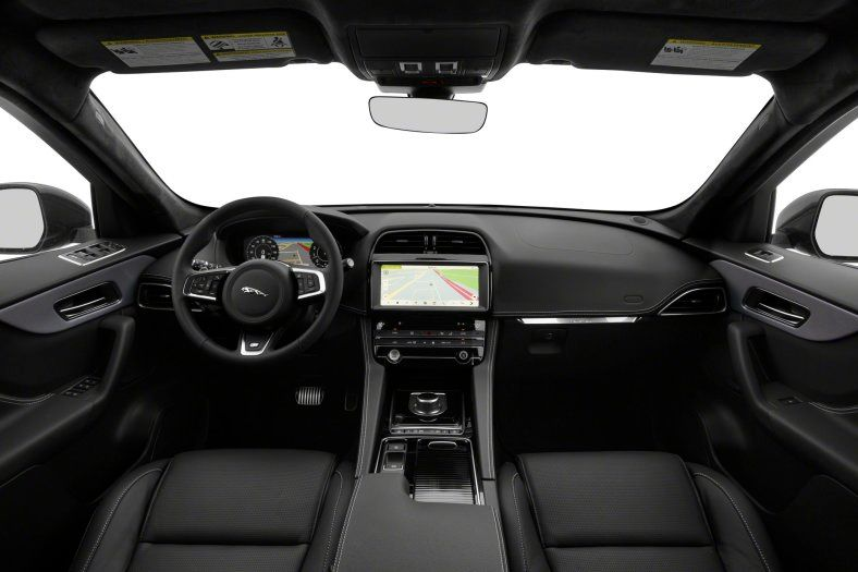 2021 Jaguar F-Pace S cockpit area