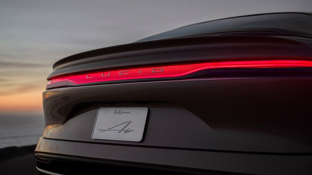 2021 Lucid Air Sedan Rear