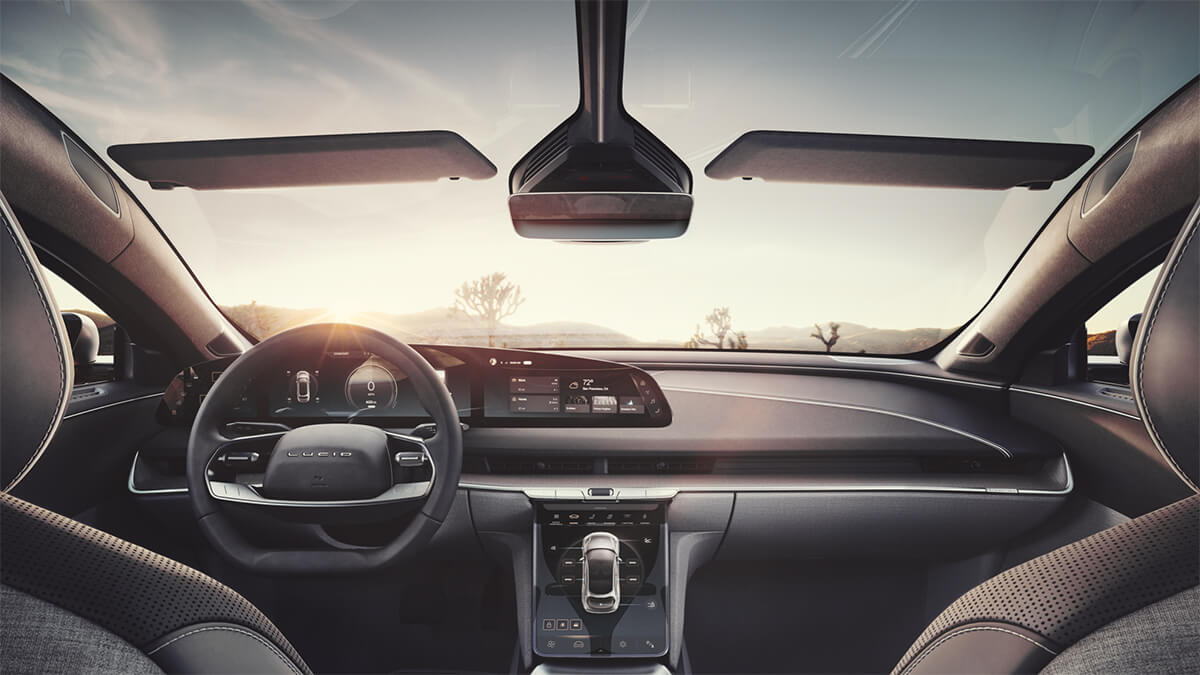 2021 Lucid Air Sedan Dashboard