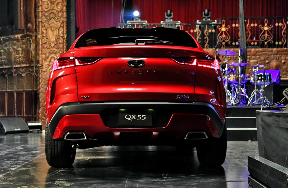 2022 Infiniti QX55 First Look rear view