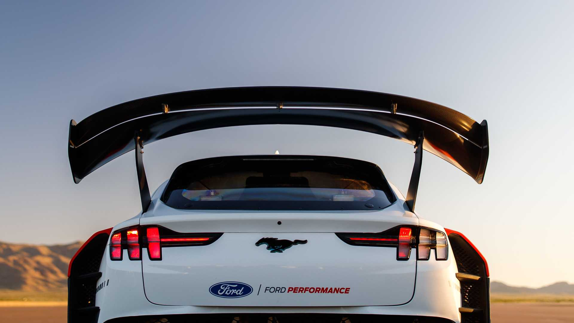 ford mustang mach e 1400 rear spoiler