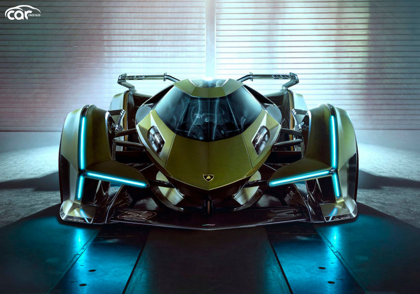 Lamborghini's 4-wheeled Space Ship: V12 Vision GT Is Here